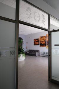Puerta interior de Tanatorio y Funeraria Fernán Núñez